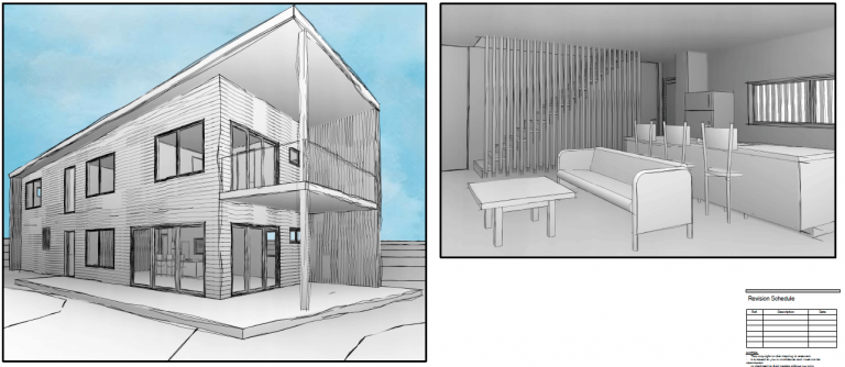 Concept picture of a designed home